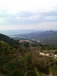 伊江島が見える山の上