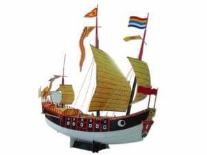 ペーパークラフト「進貢船」